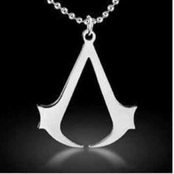 Hot sales fashion Cospaly Jewelry Assassins Creed Necklace Stainless Steel Pendant Necklage Silver For Men B0151