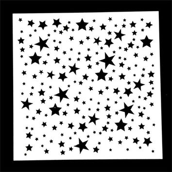 Lovely Twinkle Star Shaped Reusable Stencil Airbrush Painting Art DIY Home Decor Scrap booking Album Crafts Drop Shipping