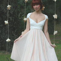 Avalon Peach Chiffon with Magnolia off White by CoralieBeatrix