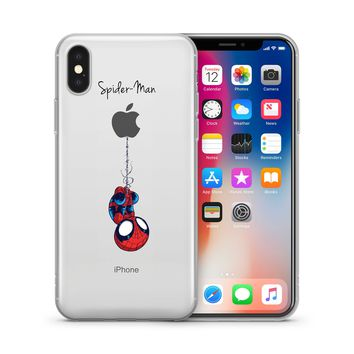 Spider Man Jelly Clear Case for Apple Iphone X (10)