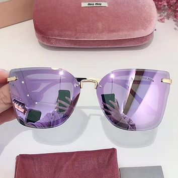 MiuMiu Woman Men Fashion Summer Sun Shades Eyeglasses Glasses Sunglasses