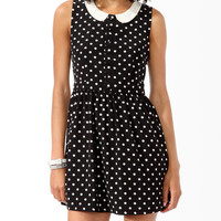 Cutout Polka Dot Dress