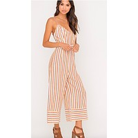 Yellow And Rust Jumpsuit