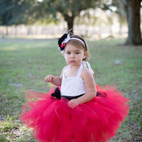 Sweetheart Lace Tutu Dress- Custom Dress, Red, Black, White, Cream, Ivory, Flower Girl, Wedding, Pageant, Birthday, Girl, Toddler, Child
