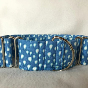 "Raindrops Martingale or Quick Release Collar 5/8"" Quick Release 3/4"" 1"" Martingale Collar, 1.5"" Martingale 2"" Patchwork"