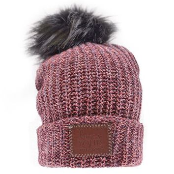 Fiesta Pom Beanie (Black Pom) - Love Your Melon