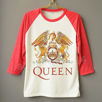 QUEEN Shirt Freddie Mercury Shirt British Rock Band Shirt Raglan Baseball Shirt Unisex Shirt Women Shirt Men Shirt Jersey Long Sleeve Shirt