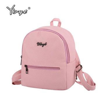 YBYT brand 2017 new preppy style solid women kawaii rucksack simple lychee pattern ladies travel bag student school backpacks