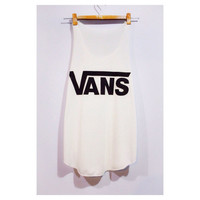 VANS Tank Top Sport Woman White Cream T-Shirt Tee Shirt Singlet Vest BUY 2 GET 1 Free