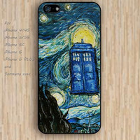 iPhone 5s 6 case watercolor starry tardis dream catcher colorful phone case iphone case,ipod case,samsung galaxy case available plastic rubber case waterproof B617
