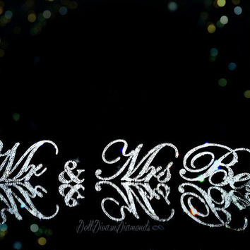 "Exquisite Diamond  Mr & Mrs. ""last name"" Wedding Reception Cake Table, Head Table, Gift/Card Table"