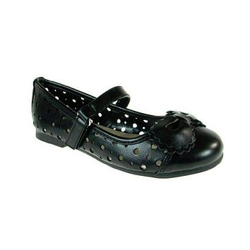 Little Angel Girl's Britt-735 Laser Cut Ballerina Flat Shoes