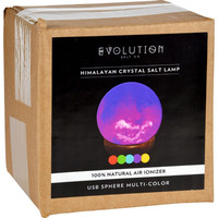 Evolution Salt Lamp - Usb - Sphere - Multi Color Changing - 1 Count