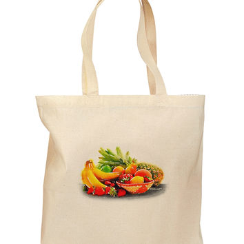 Watercolor Fruit Bowl 1 Grocery Tote Bag