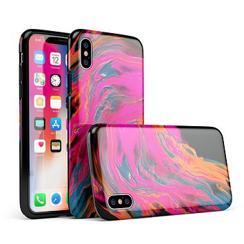 Liquid Abstract Paint V73 - iPhone X Swappable Hybrid Case