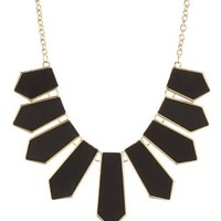 Black Faux Leather Spike Collar Necklace by Charlotte Russe