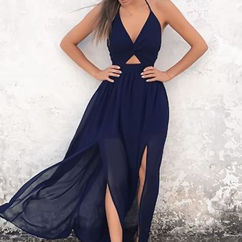 Almost Midnight Maxi Dress (Navy)