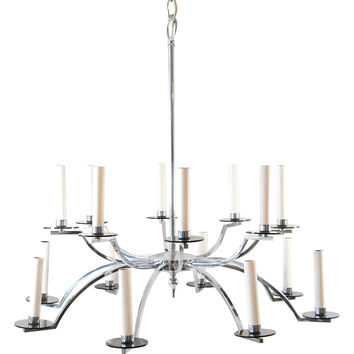 16-Light Mid-Century Modern Chandelier