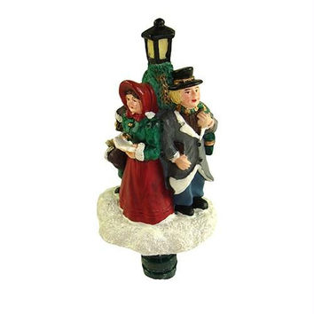 Christmas Lamp Shade Finial - Victorian Carolers