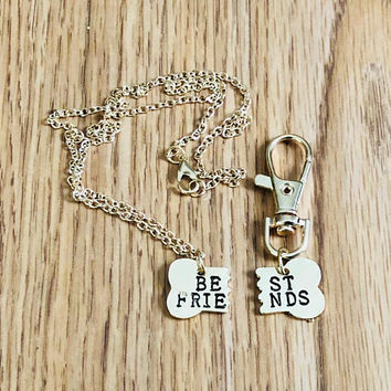 Best Friends Necklace for You and Collar Clip for your dog~dog jewelry~BFF Necklace/Collar Clip~Dog Collar Charm~Collar Accessory