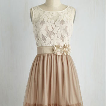 Ryu Home Sweet Scone Dress in Cappuccino | Mod Retro Vintage Dresses | ModCloth.com