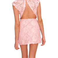 Pure Perfection Lace Dress - Pink