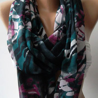 Dance of the Colors Collection .... Infinity - Loop - Circle - Elegant - Chiffon - Feminine - Summer - Shawl - Scarf