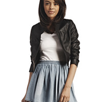 Faux Leather Bolero Jacket | Wet Seal