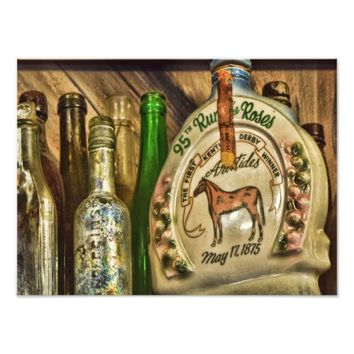 Vintage Antique Wine Bottles Photo Print