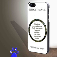 Pierce The Veil Song Lyrics for iphone 4/4s/5/5s/5c/6/6+, Samsung S3/S4/S5/S6, iPad 2/3/4/Air/Mini, iPod 4/5, Samsung Note 3/4 Case **
