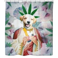 Weed Puppy Shower Curtain