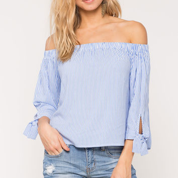 Casual Knot Off Shoulder Top