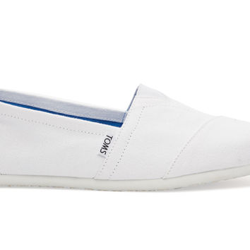 TOMS Optical White Canvas Men's Classics White