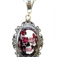 """Skull & Roses"" Cameo by Alkemie Apparel"