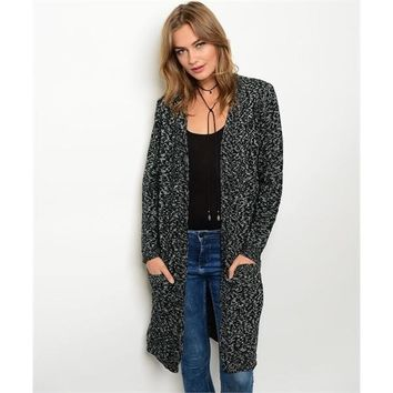 Black Ivory Knit Sweater Cardigan