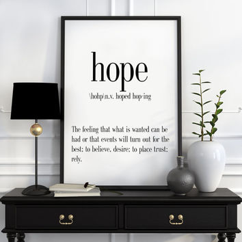 Definition of Hope Funny wall art Typography Print Funny Poster Name Definition Art Minimalist Art Art Print Instant Download Print