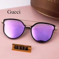 Gucci Fashion Trending Women Popular Summer Sun Shades Eyeglasses Glasses Sunglasses Purple G-A-SDYJ