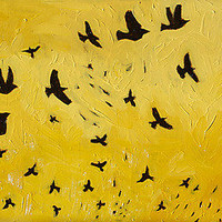Migration No. 18: Todd Starks: Oil Painting - Artful Home