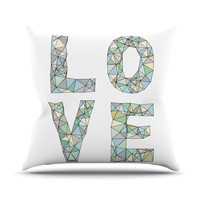 "Skye Zambrana ""Four Letter Word"" Throw Pillow"