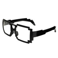 Geek Nerd Computer Bit Pixelated Clear Lens Party Glasses Frames P21