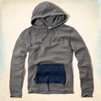 Tide Beach Pattern Pocket Hoodie