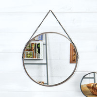 Round Metal Framed Wall Mirror 18-1/2-in
