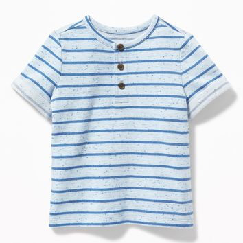 Striped French-Terry Henley for Toddler Boys | Old Navy