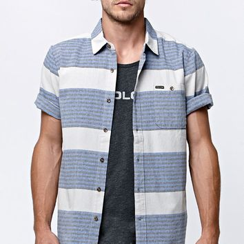 Volcom Beacon Short Sleeve Woven Shirt - Mens Shirts - Gray
