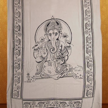 Lord Ganesha Tapestry Tapestries Hippie Boho Wall Hanging  Bohemian Tapestry Throw Block Print Bedspread Bedding, Ethnic Decorative