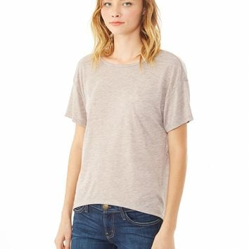 Pony Melange Burnout T-Shirt w/ Back Strap