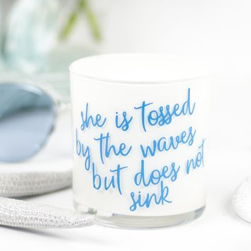 She Is Tossed Quote Jar in Fairy's Dust Scent
