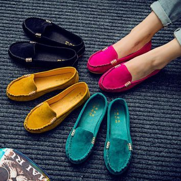 new-women-s-candy-color-shoes-spring-autumn-cute-slip-on-low-heel-ladies-shoes-boat-sh number 1