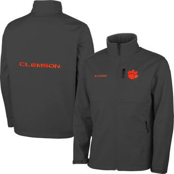 Clemson Tigers Columbia Ascender Bonded Softshell Jacket – Gray