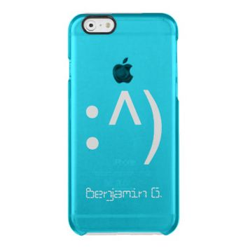 Computer Code Face Custom Name Uncommon Clearly™ Deflector iPhone 6 Case